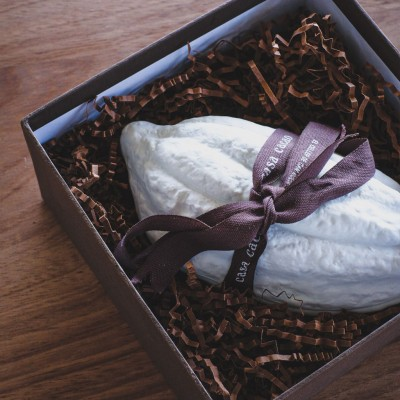 Porcelain Cacao Pod with...
